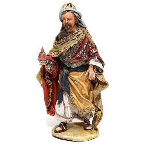 Roi Mage debout avec cadeau 13 cm Angela Tripi 1