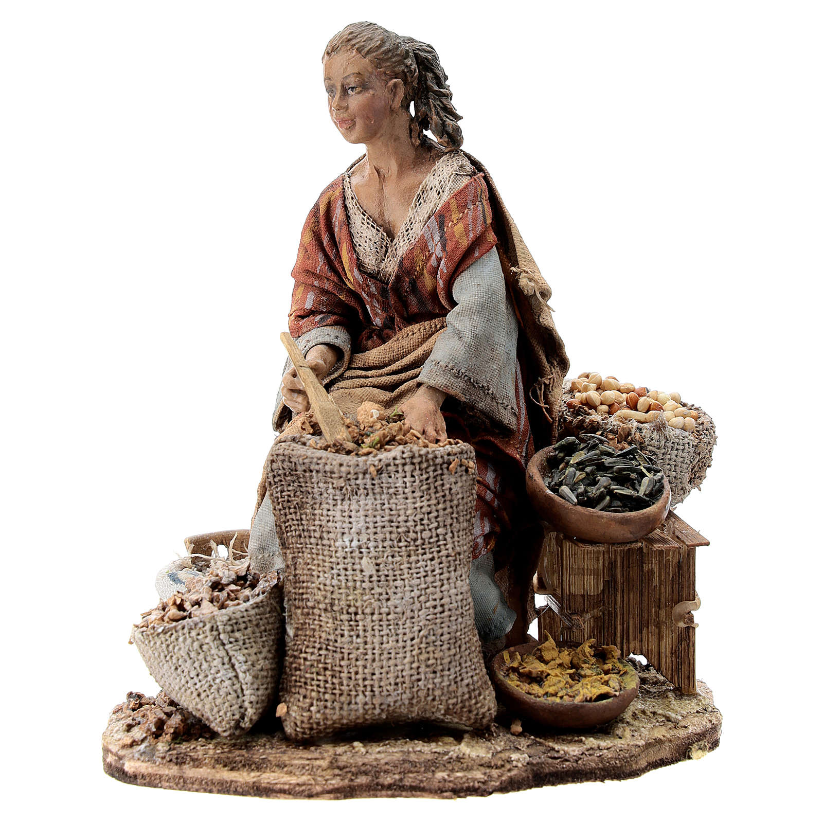 Nativity scene figurine, woman selling spices by Angela Tripi 13 cm 4
