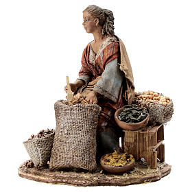 Nativity scene figurine, woman selling spices by Angela Tripi 13 cm s3