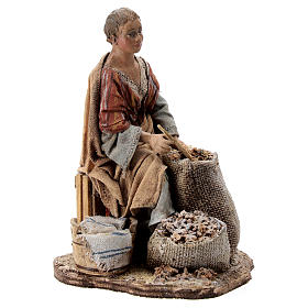 Nativity scene figurine, woman selling spices by Angela Tripi 13 cm s4