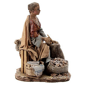 Nativity scene figurine, woman selling spices by Angela Tripi 13 cm s5