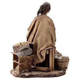 Nativity scene figurine, woman selling spices by Angela Tripi 13 cm s6