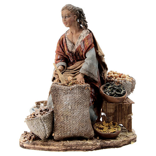 Nativity scene figurine, woman selling spices by Angela Tripi 13 cm 1