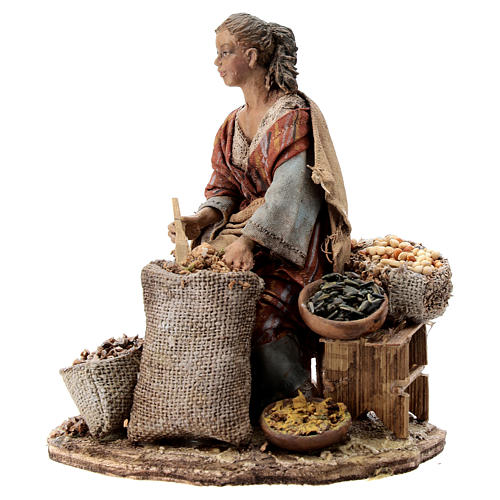 Nativity scene figurine, woman selling spices by Angela Tripi 13 cm 3