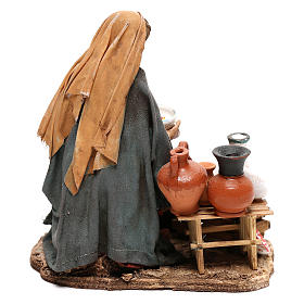 Nativity scene figurine, woman selling pottery by Angela Tripi 13 cm s4