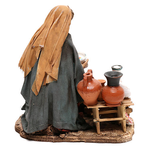 Nativity scene figurine, woman selling pottery by Angela Tripi 13 cm 4
