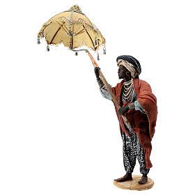 Nativity scene figurine, servant with umbrella 18 cm by Angela Tripi s4