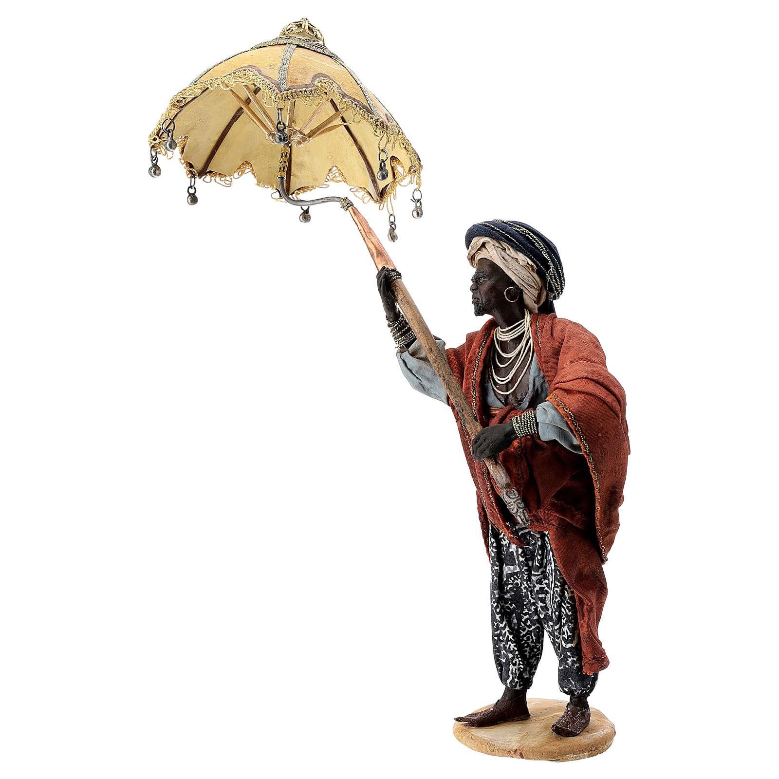 Siervo con paraguas 18 cm Angela Tripi 4