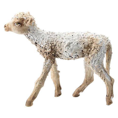 Nativity scene figurine, standing lamb 30 cm by Angela Tripi 1