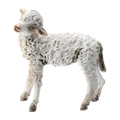 Nativity scene figurine, Standing sheep by Angela Tripi 13 cm 1