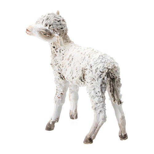 Nativity scene figurine, Standing sheep by Angela Tripi 13 cm 2