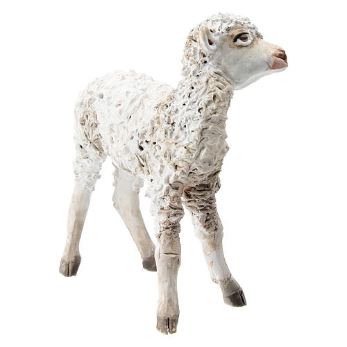 Nativity scene figurine, Standing sheep by Angela Tripi 13 cm 3