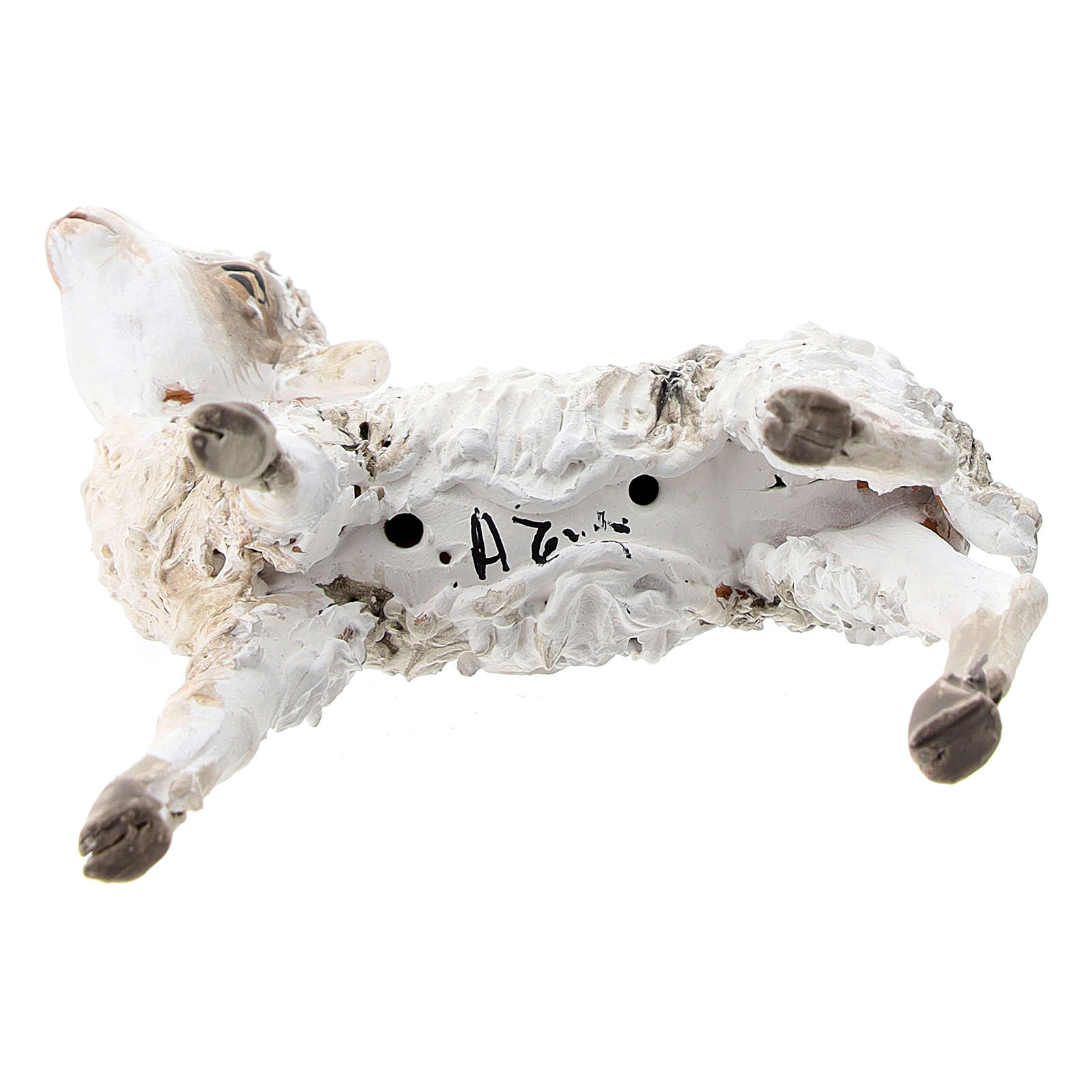 Pecorella in piedi 30 cm per presepi Angela Tripi 4