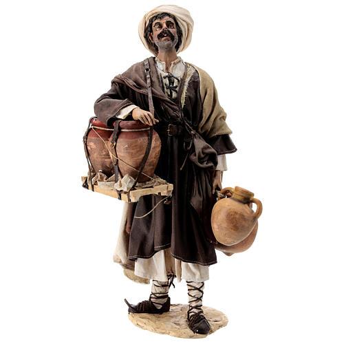 Nativity scene figurine, Man with jars by Angela Tripi 30 cm 1
