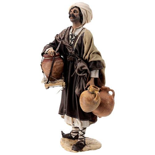 Nativity scene figurine, Man with jars by Angela Tripi 30 cm 3