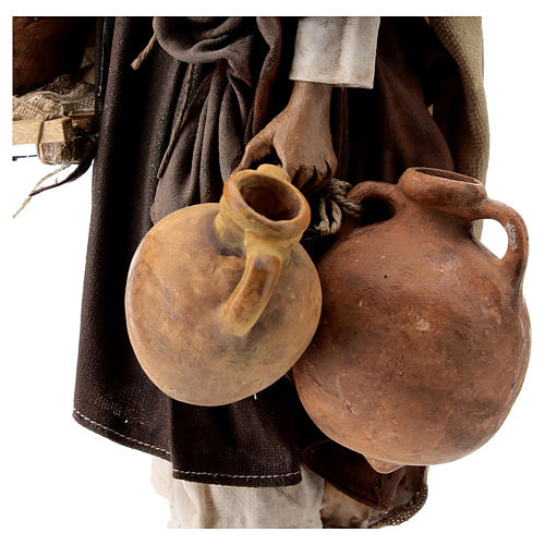 Nativity scene figurine, Man with jars by Angela Tripi 30 cm 4