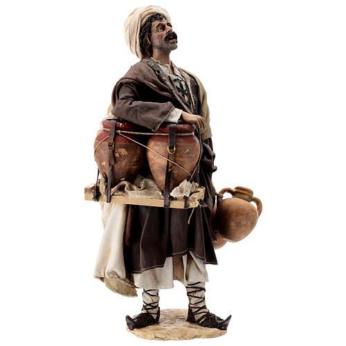 Nativity scene figurine, Man with jars by Angela Tripi 30 cm 5