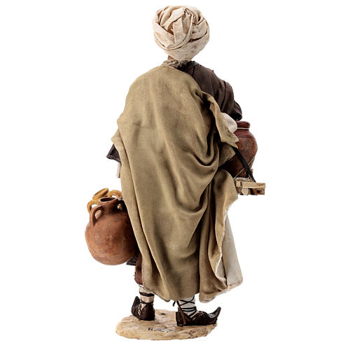 Nativity scene figurine, Man with jars by Angela Tripi 30 cm 8
