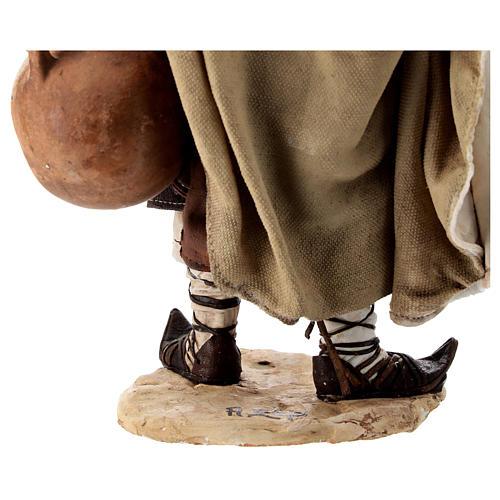 Nativity scene figurine, Man with jars by Angela Tripi 30 cm 9