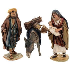 Familia pastores con niño y burro 13 cm A. Tripi s1