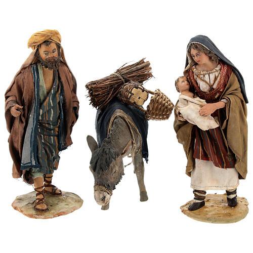 Familia pastores con niño y burro 13 cm A. Tripi 1