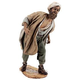 Nativity scene figurine, Man with plow and ox by Angela Tripi 30 cm s8