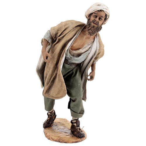 Nativity scene figurine, Man with plow and ox by Angela Tripi 30 cm 2
