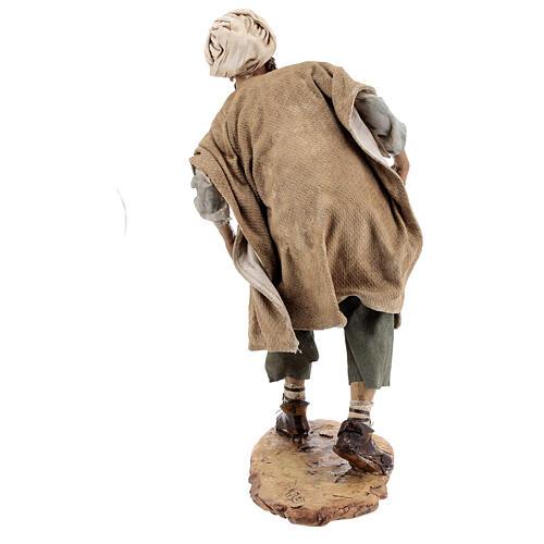 Nativity scene figurine, Man with plow and ox by Angela Tripi 30 cm 9
