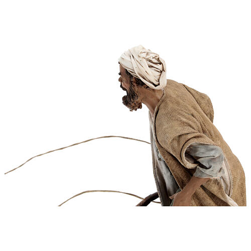 Homem com boi e arado presépio Angela Tripi figuras altura média 30 cm 3