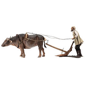 Man and plow with ox, 30 cm Angela Tripi s1
