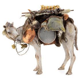 Nativity scene figurine, standing loaded camel by Angela Tripi 40 cm s1