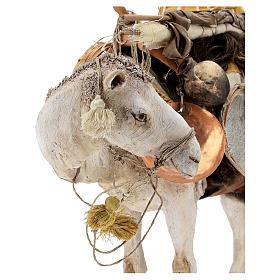 Nativity scene figurine, standing loaded camel by Angela Tripi 40 cm s2