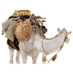 Nativity scene figurine, standing loaded camel by Angela Tripi 40 cm s10