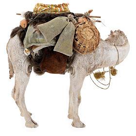 Nativity scene figurine, standing loaded camel by Angela Tripi 40 cm s11