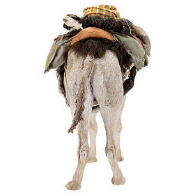 Nativity scene figurine, standing loaded camel by Angela Tripi 40 cm s12