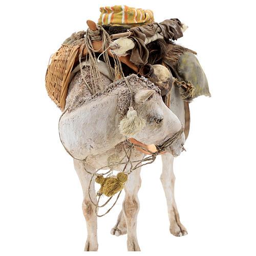 Nativity scene figurine, standing loaded camel by Angela Tripi 40 cm 6