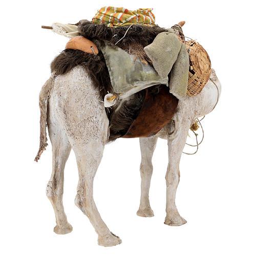 Nativity scene figurine, standing loaded camel by Angela Tripi 40 cm 9