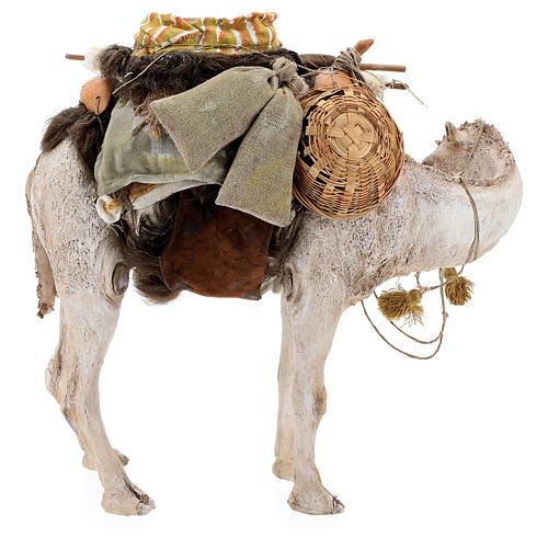 Nativity scene figurine, standing loaded camel by Angela Tripi 40 cm 11
