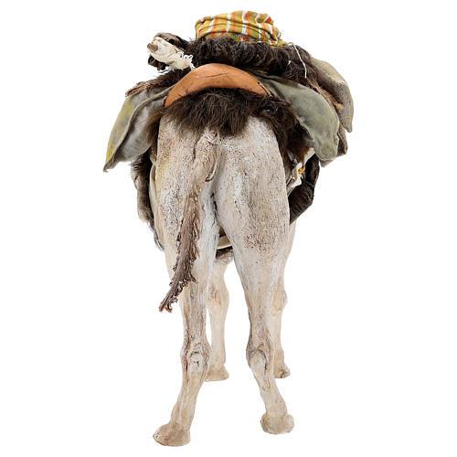 Nativity scene figurine, standing loaded camel by Angela Tripi 40 cm 12