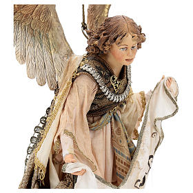 Nativity scene Angels with Gloria banners (two) by Angela Tripi 30 cm s8