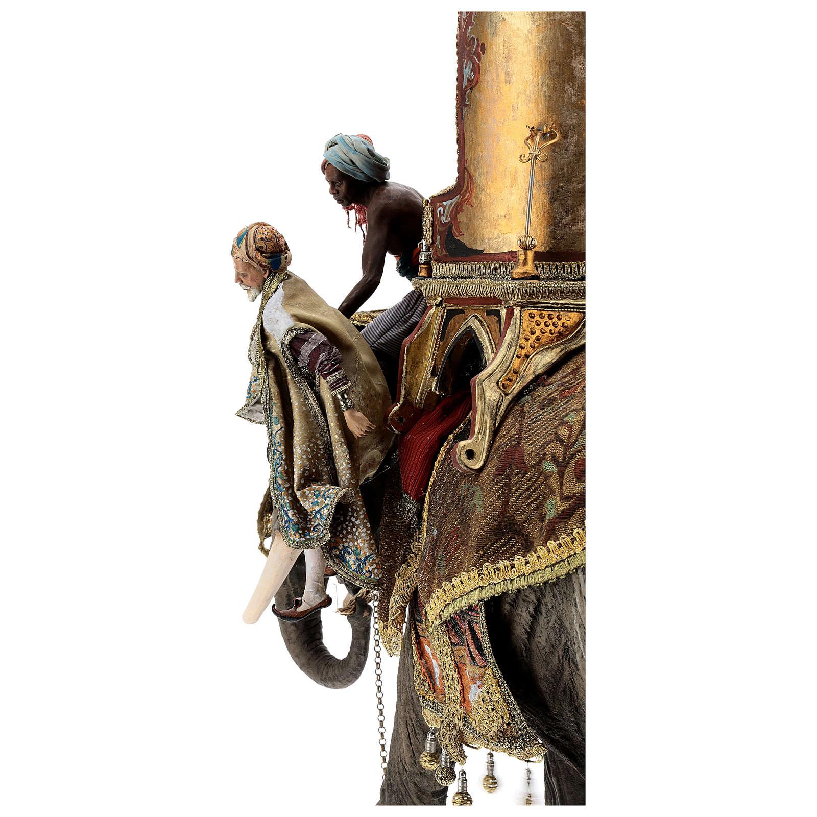 Scena arrivo Re Magio Melchiorre presepi 30 cm A. Tripi 4