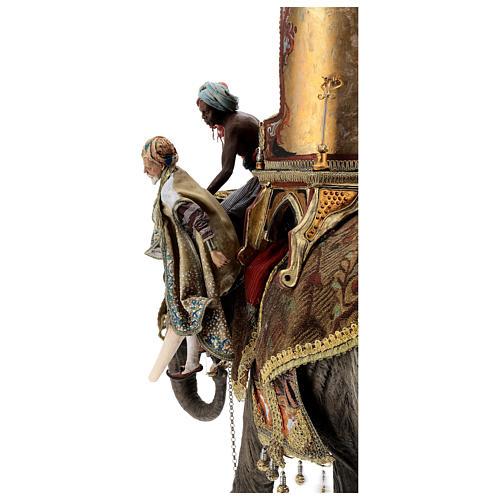 Scena arrivo Re Magio Melchiorre presepi 30 cm A. Tripi 16