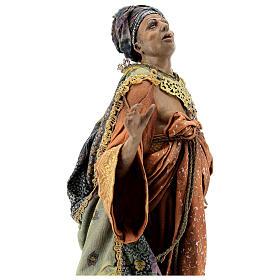 Cena chegada do Rei Mago Melchior Presépio Angela Tripi figuras altura média 30 cm s4
