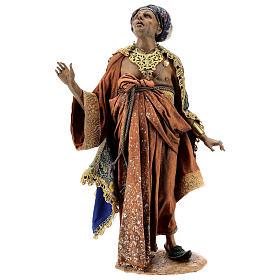 Cena chegada do Rei Mago Melchior Presépio Angela Tripi figuras altura média 30 cm s8