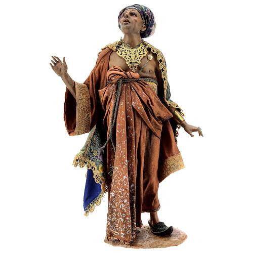 Cena chegada do Rei Mago Melchior Presépio Angela Tripi figuras altura média 30 cm 8