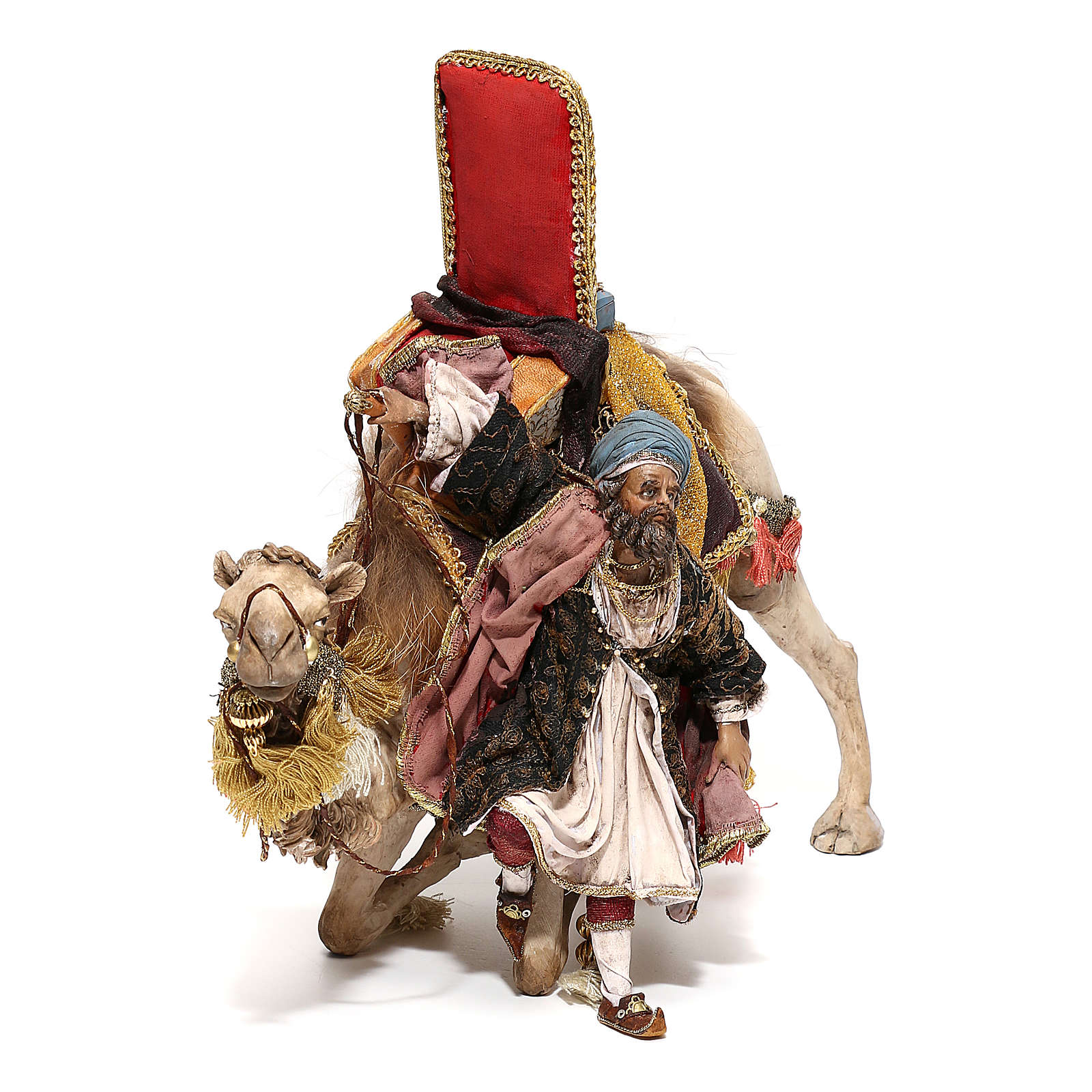 Nativity scene figurine, King getting off his camel by Angela Tripi 18 cm 4