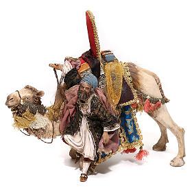 Nativity scene figurine, King getting off his camel by Angela Tripi 18 cm s1