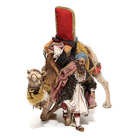 Nativity scene figurine, King getting off his camel by Angela Tripi 18 cm s3