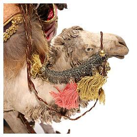 Nativity scene figurine, King getting off his camel by Angela Tripi 18 cm s4