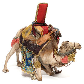 Nativity scene figurine, King getting off his camel by Angela Tripi 18 cm s5